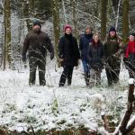 Winterspaziergang durch den Forst rund um die Gänsbrüh.